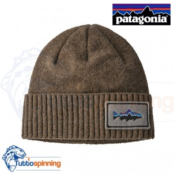 Patagonia Brodeo Beanie - Fitz Roy Trout Patch: Ash Tan