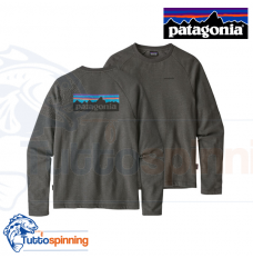 Patagonia Men's P-6 Logo Lightweight Crew Sweatshirt - Forge Grey